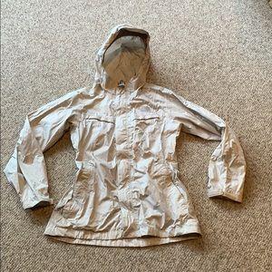 The North Face light grey Hyvent 2.5 L rain jacket